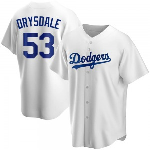 Men's Los Angeles Dodgers Don Drysdale Replica White Home Jersey