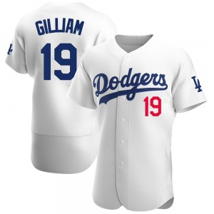 Men's Los Angeles Dodgers Jim Gilliam Authentic White Home Official Jersey