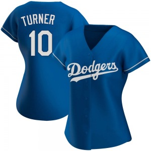 Women's Los Angeles Dodgers Justin Turner Authentic Royal Alternate Jersey