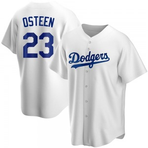 Youth Los Angeles Dodgers Claude Osteen Replica White Home Jersey