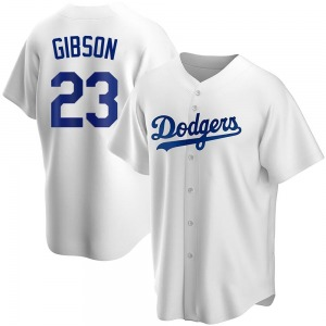 Youth Los Angeles Dodgers Kirk Gibson Replica White Home Jersey
