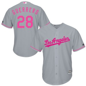 Youth Majestic Los Angeles Dodgers Pedro Guerrero Authentic Gray Cool Base Mother's Day Jersey